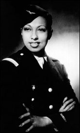 Josephine Baker in her uniform.